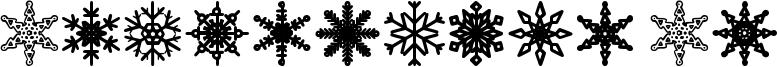 Snowflakes St Font