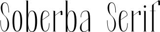 Soberba Serif Font