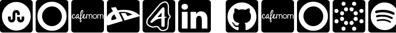 Social Icons - Pro Set Font