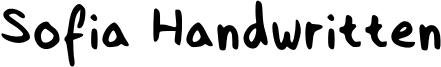 Sofia Handwritten Font