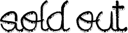 Sold out Font