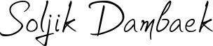 Soljik Dambaek Font