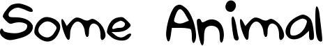 Some Animal Font