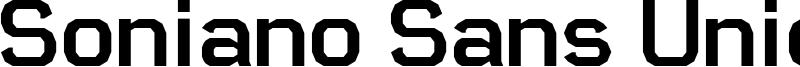 Soniano Sans Unicode Font