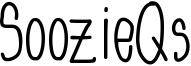 SoozieQs Font