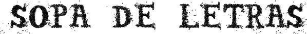 Sopa de letras Font