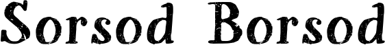 Sorsod Borsod Font