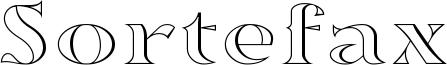 Sortefax Font