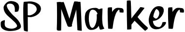 SP Marker Font
