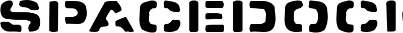 Spacedock Stencil Font