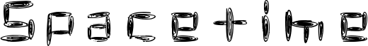 Spacetime Font