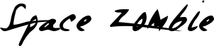 Space Zombie Font