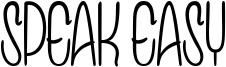 Speak Easy Font