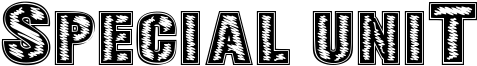 Special Unit Font