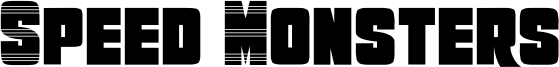 Speed Monsters Font