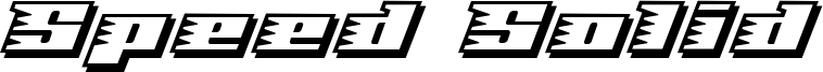 Speed Solid Font