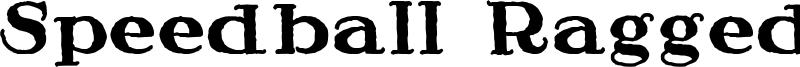 Speedball Ragged Font