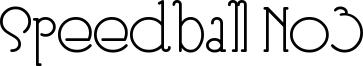 Speedball No3 Font