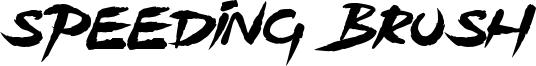 Speeding Brush Font