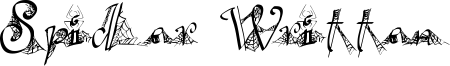 Spider Written Font