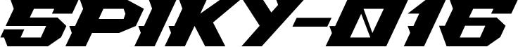 Spiky-016 Font