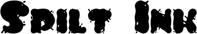 Spilt Ink Font