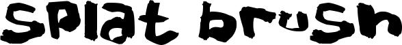 Splat Brush Font