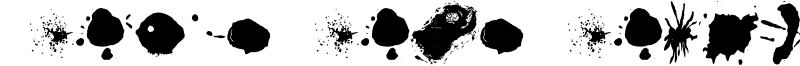 Split Splat Splodge Font