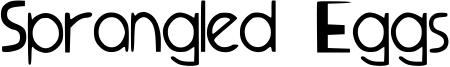 Sprangled Eggs Font