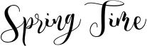 Spring Time Font