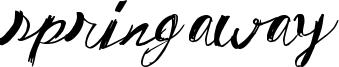 Spring Away Font