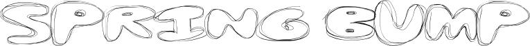 Spring Bump Font