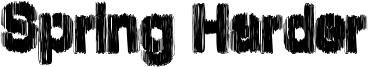 Spring Harder Font