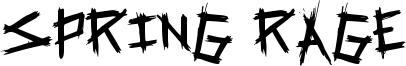 Spring Rage Font