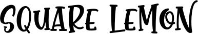 Square Lemon Font