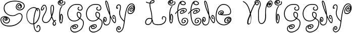 Squiggly Little Wiggly Font