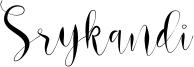 Srykandi Font