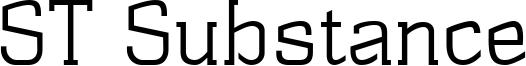 ST Substance Font
