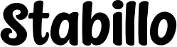 Stabillo Font