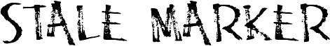 Stale Marker Font