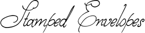 Stamped Envelopes Font