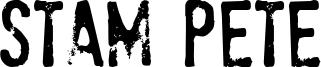Stam Pete Font