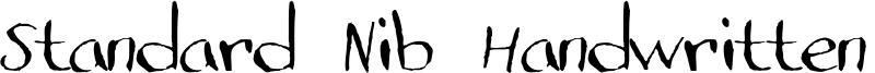 Standard Nib Handwritten  Font