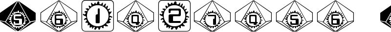 Starburst Pips Font