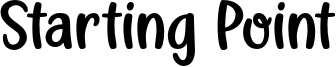 Starting Point Font