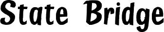 State Bridge Font