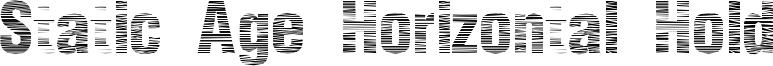 Static Age Horizontal Hold Font