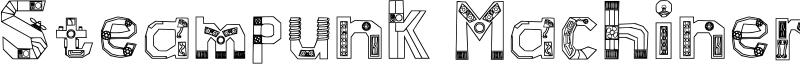 Steampunk Machinery Font