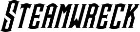 Steamwreck Italic.otf