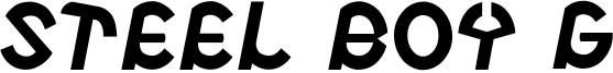 Steel Boy G Font